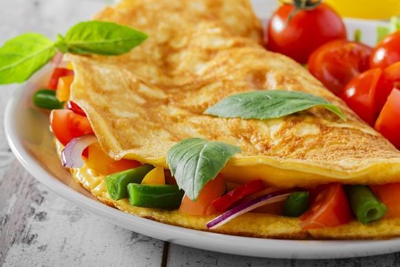 Que tal uma omelete no café da manhã? (Foto Ilustrativa)
