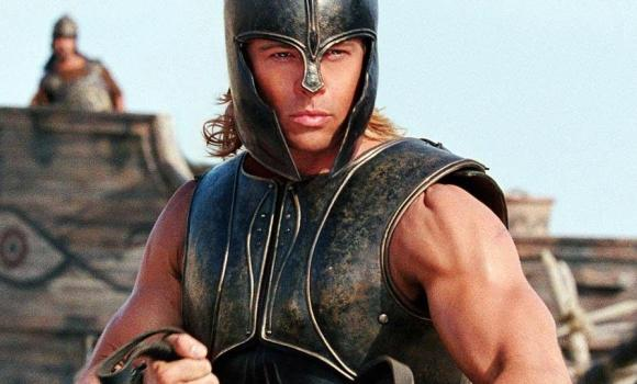 Brad Pitt em Troia. (Foto: Divulgação)