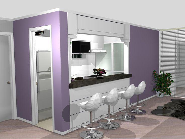 Tente harmonizar a sua cozinha planejada (Foto: Divulgação)