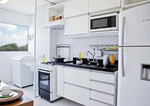 Cozinha planejada com a cor branca pode te dar um belo toque especial (Foto: Divulgação)