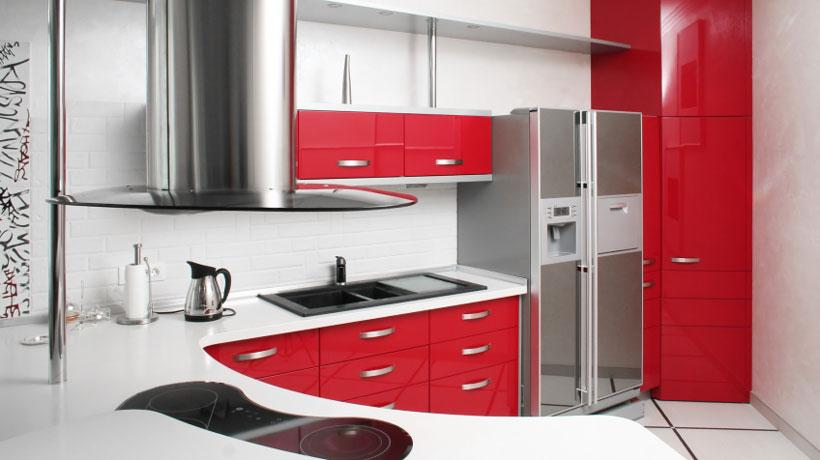 Um toque de cor forte na sua cozinha pequena planejada (Foto: Divulgação)