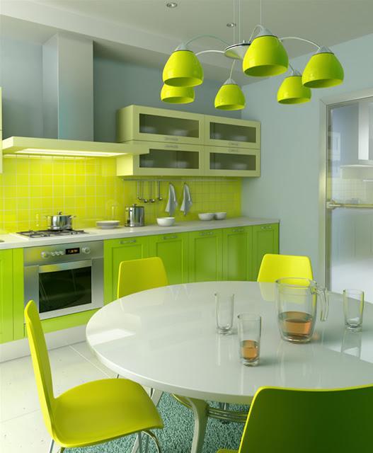 Cozinha planejada com cores marcantes (Foto:Divulgação)