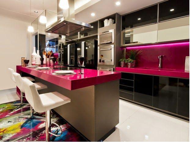Cozinhas com cores vivas ficam mais divertidas (Foto: Divulgação0