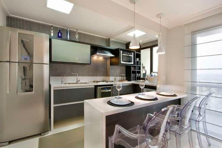 Cozinhas planejadas que acabam se encaixando no seu orçamento sempre são possíveis (Foto: Divulgação)