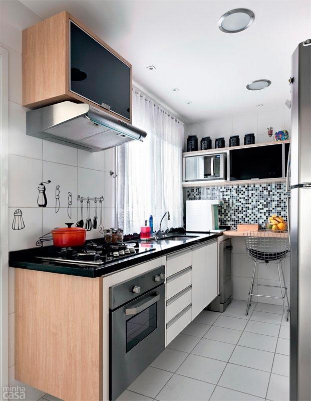 Cozinha pequena, mas com planejamento que você precisa (Foto: Divulgação)