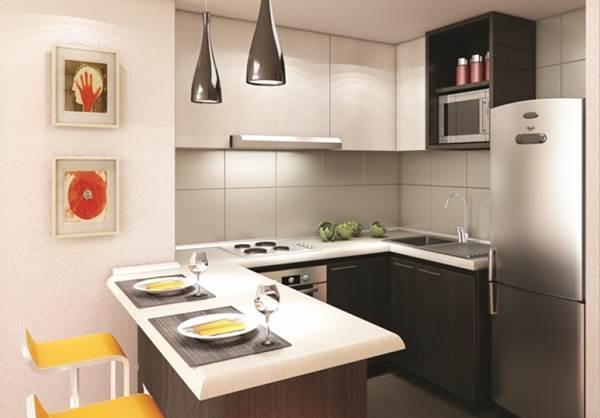 As cozinhas com cores claras dão a sensação de mais espaço (Foto: Divulgação)