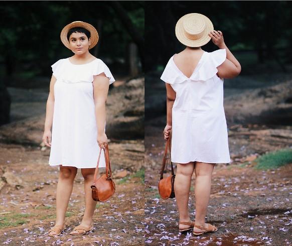 Vestido de babado plus size. (Foto: Reprodução/Lookbook.nu)