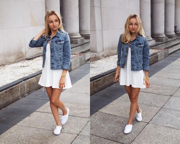 Jaqueta jeans. Trench coat feminino (Foto: Reprodução/Lookbook.nu)