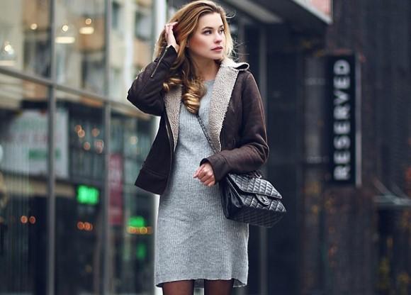 Jaqueta de carneiro fake. Trench coat feminino (Foto: Reprodução/Lookbook.nu)