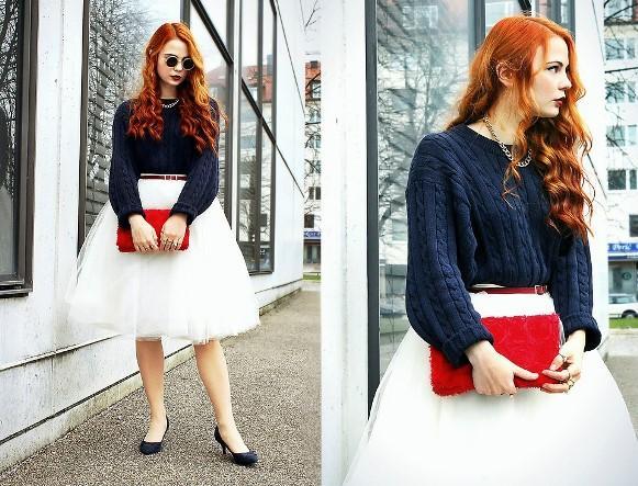 A saia de tule acrescenta um toque de romantismo ao look. (Foto: Reprodução/Lookbook.nu)