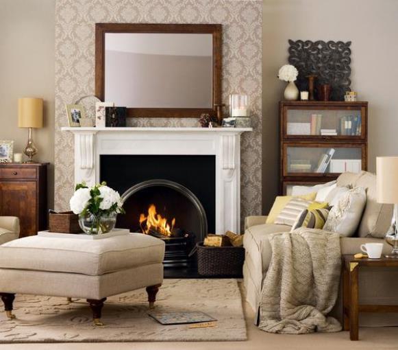 Decoração da sala de estar com manta. (Foto: Reprodução/Realsimple)