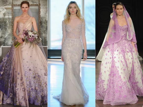 A noiva pode ousar um pouco na cor do vestido. (Foto: Reprodução/Theknot)