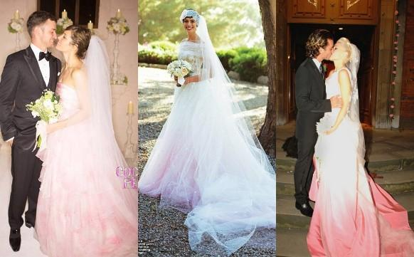 Vestidos de casamento coloridos e com corte moderno 2016