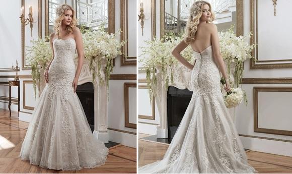 Vestido de noiva sereia. (Foto: Reprodução/justinalexanderbridal)