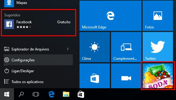Windows 10 com blocos de anúncios. Removendo anúncios da tela de bloqueio. (Foto:Reprodução/Edivaldo Brito)