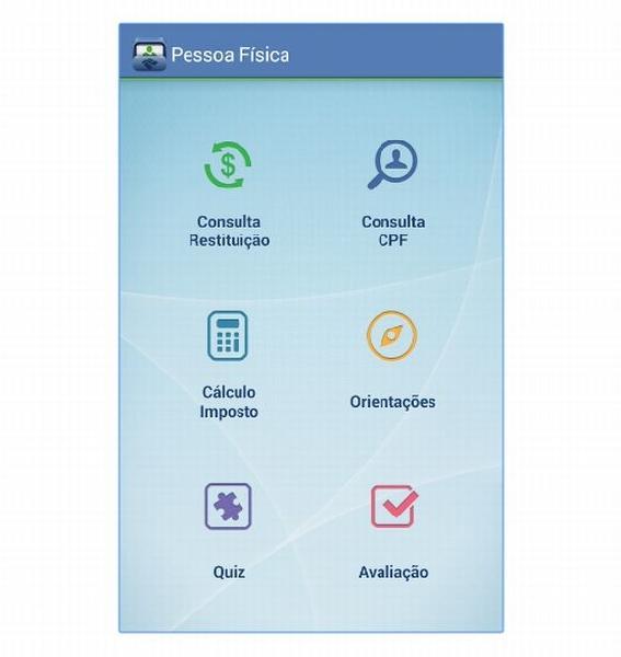 O app da Receita Federal para Pessoa Física foi atualizado e ganhou novos recursos (Foto: Reprodução Receita Federal)