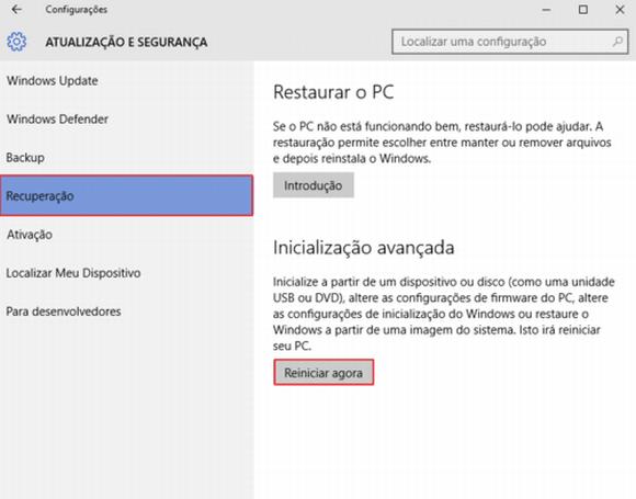 Basta seguir as dicas para reiniciar o PC em modo de segurança (Foto: Reprodução Windows)
