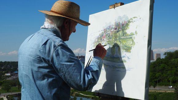 A pintura também pode ser uma forma de acabar com o stress (Foto Ilustrativa)