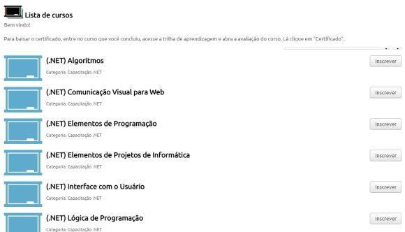 São mais de 30 cursos oferecidos pelo Projeto Brasil Mais TI (Foto: Reprodução Projeto Brasil Mais TI)