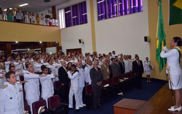 Os aprovados no concurso ingressam no Curso de Formação de Oficiais da Marinha (Foto: Divulgação CIAW)