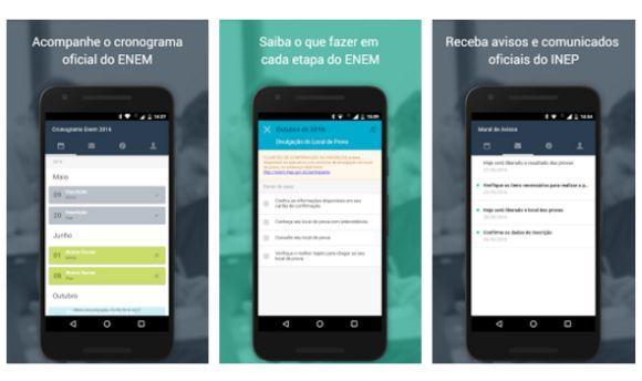O app gratuito oferece vários recursos para quem vai participar do Enem 2016 (Foto: Divulgação MEC)