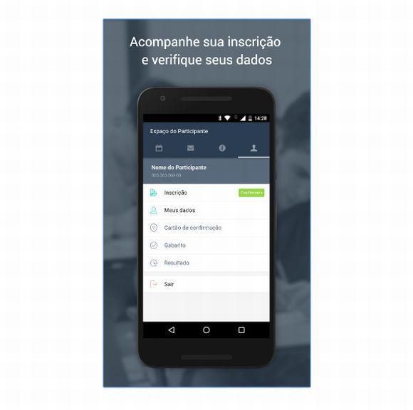 O app permite, por exemplo, conferir os locais de prova e acessar o cartão do Enem 2016 (Foto: Divulgação MEC)