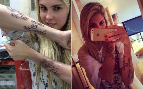 A tatuagem de Bárbara Evans virou piada nas redes sociais (Foto Ilustrativa)