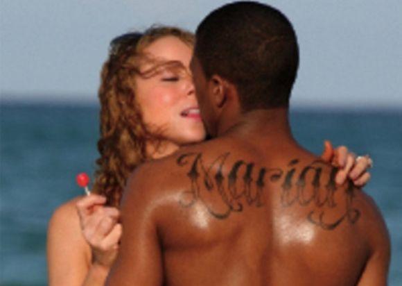 Nick Cannon homenageou Mariah Carey com uma tattoo, mas após a separação, teve que cobrí-la com outra (Foto Ilustrativa)