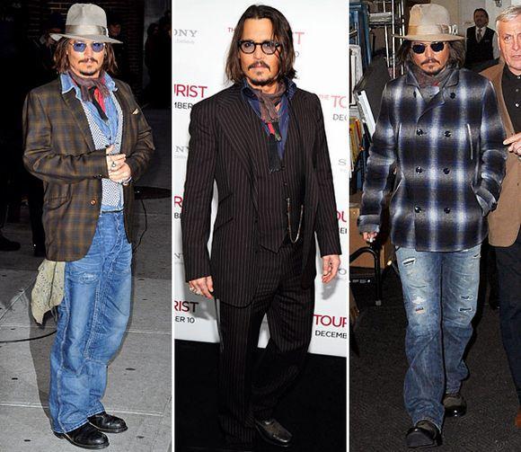 O estilo Johnny Depp tem, entre os principais acessórios, óculos, lenços e chapéu (Foto Ilustrativa)