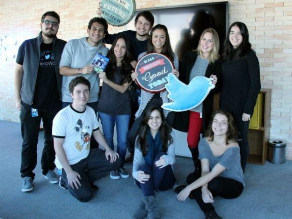 Turma de estagiários do Twitter em 2015 (Foto: Divulgação Twitter)