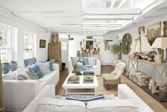 Casa de praia decorada. (Foto: Reprodução/Countryliving)