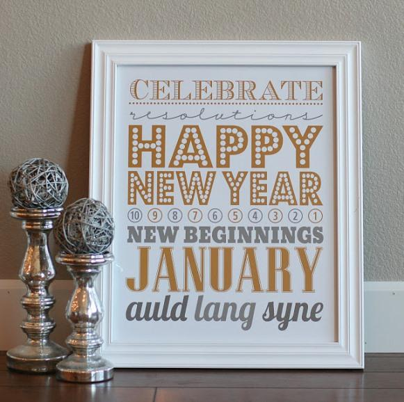 Quadrinho de Feliz Ano Novo. (Foto: Reprodução/Iheartnaptime)