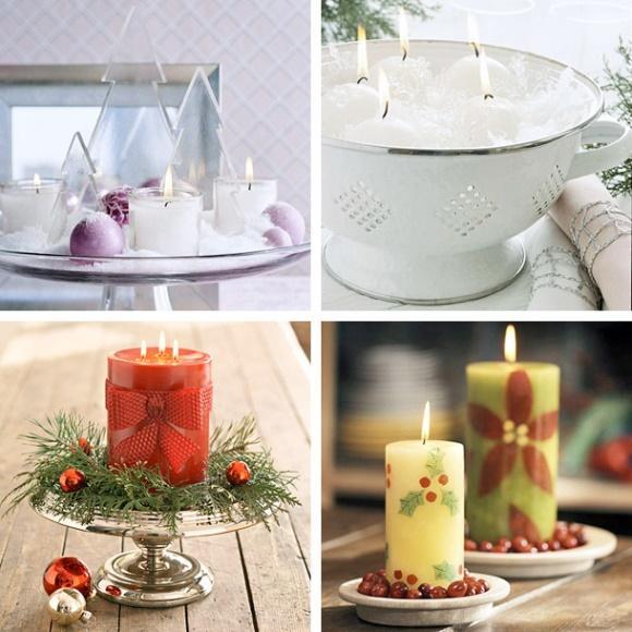 As velas podem ser usadas de diferentes formas na decoração. (Foto: Reprodução/homedit)