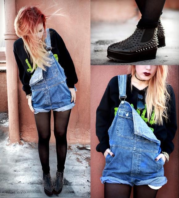 Jardineira jeans. (Foto: Reprodução/Lookbook.nu)