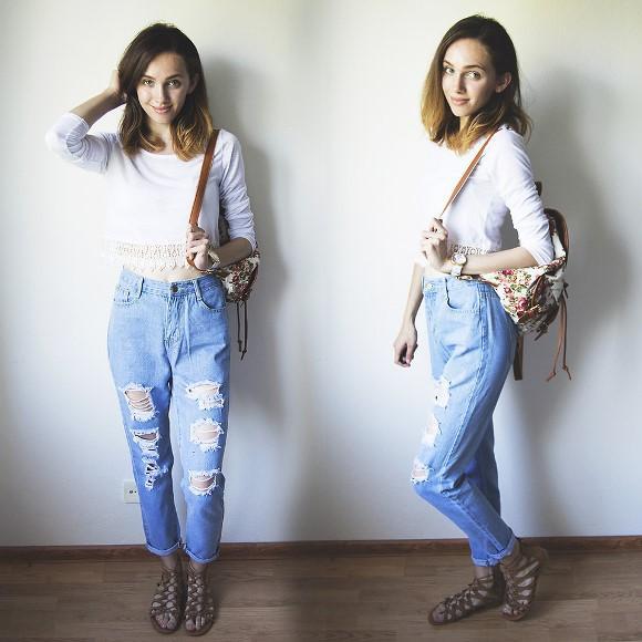 Calça jeans boyfriend. (Foto: Reprodução/Lookbook.nu)