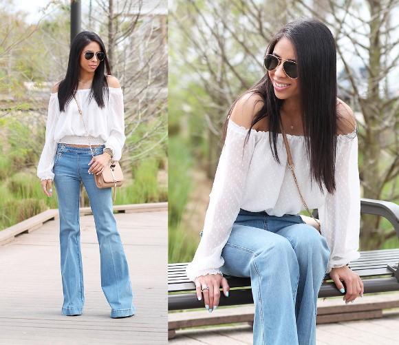 Calça jeans flare. (Foto: Reprodução/Lookbook.nu)