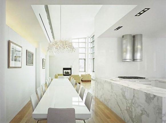 Ambiente decorado com mármore. (Foto: Reprodução/terrysfabrics)