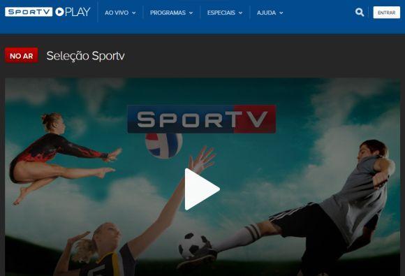 Os canais SporTV farão ampla cobertura online dos jogos (Foto: Reprodução SporTV Play)
