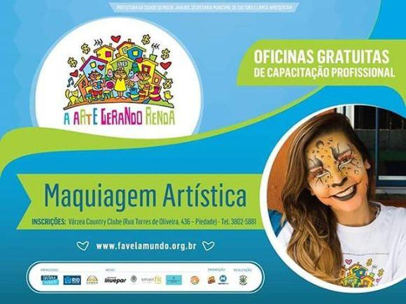 O curso de maquiagem artística está com novas turmas abertas (Foto: Divulgação Favela Mundo)
