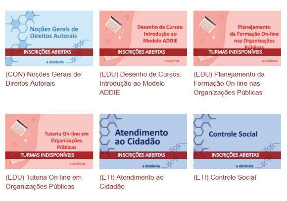 A oferta é de mais de 30 cursos ead gratuitos (Foto: Reprodução Enap)
