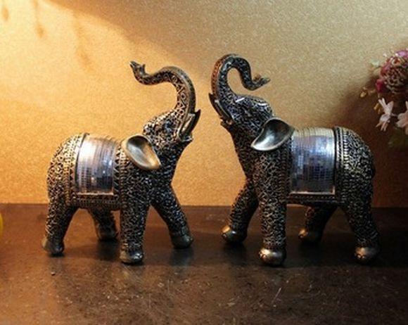 Os enfeites de elefante são bastante populares (Foto Ilustrativa)
