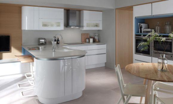 As formas arredondadas estão de volta às cozinhas (Foto Ilustrativa)