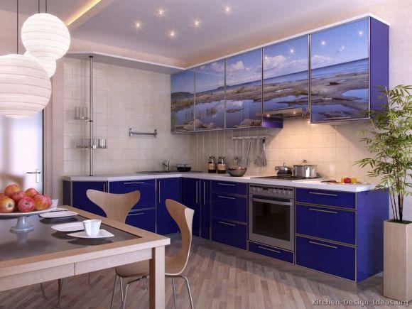 O azul na decoração da cozinha também está em alta (Foto Ilustrativa)