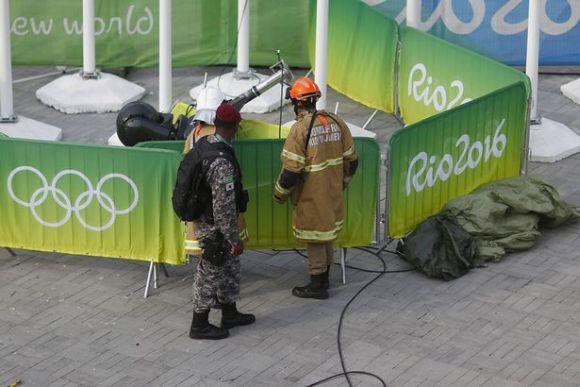 Uma câmera de mais de 100 kg caiu sobre as pessoas que transitavam pelo Parque Olímpico (Foto Ilustrativa)