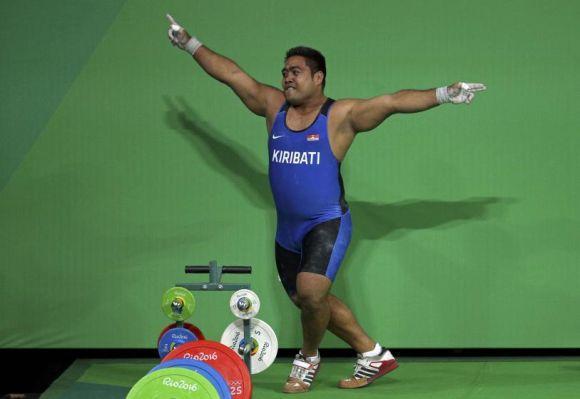 O simpático halterofilista de Kiribati (Foto Ilustrativa)