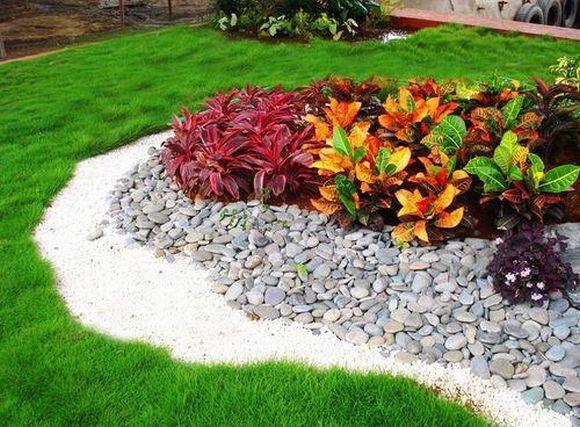 clássica decoração de jardins com pedras (Foto Ilustrativa)