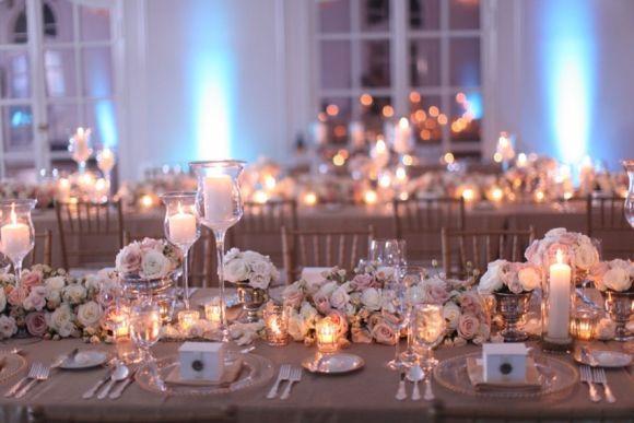 A decoração das mesas da festa de casamento deve ser tratada com atenção (Foto Ilustrativa)