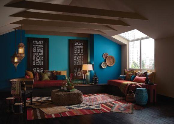 As cores na decoração dão um toque diferenciado ao ambiente (Foto Ilustrativa)