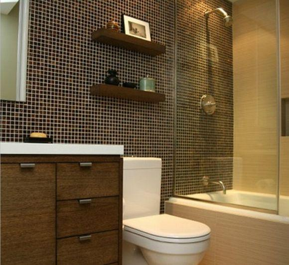 Decora o para banheiros pequenos 2017 fotos e tend ncias for Small 3 piece bathroom ideas