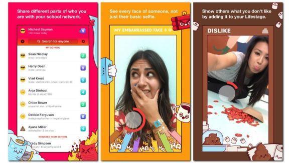 A interação no Lifestage é feita somente através de vídeos (Foto: Divulgação Facebook)